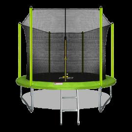 Батут ARLAND 10FT с внутренней страховочной сеткой и лестницей (Light green)