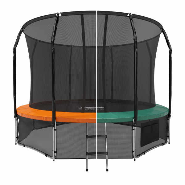 Батут Eclipse с защитной сеткой Space Green/Orange 12FT