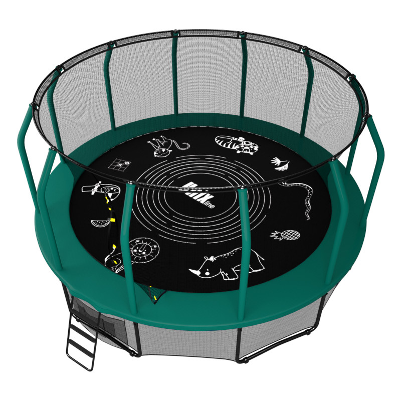 Батут UNIXline SUPREME GAME 14 ft (green)